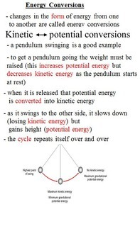 Energy and its Transformations (including kinetic and pote
