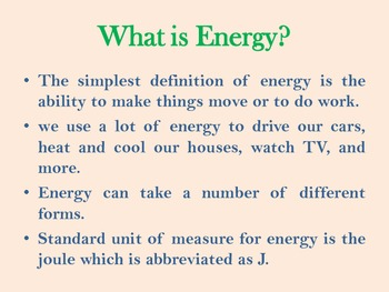 Energy and its various forms