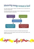 Energy content in food