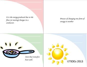 Energy flashcards