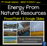 NGSS 4-ESS3-1 Energy from Natural Resources  PowerPoint an