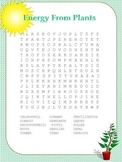 Energy from Plants Word Search
