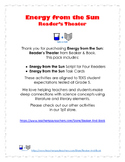 Energy from the Sun: Reader's Theater Pack