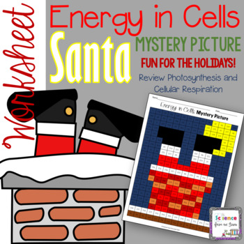 Energy In Cells Santa Hidden Mystery Picture For Review Or Assessment
