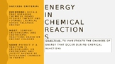 Energy in Chemical Reactions - PowerPoint