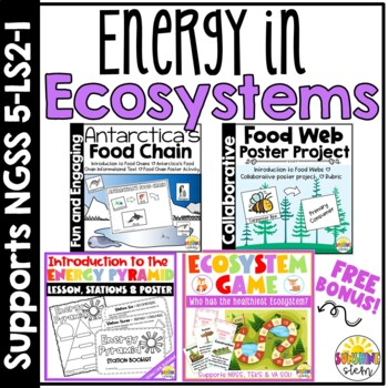 Energy in Ecosystems Bundle {Covers NGSS 5-LS2}