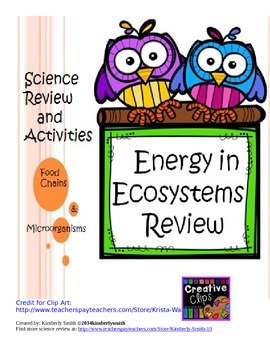 Energy in Ecosystems Review and Activities