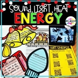 Sound, Light, Heat Energy ~ Holiday Themed Activities in E