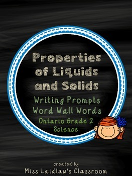 Properties of Liquids and Solids: Ontario Grade 2 Science - Differentiated