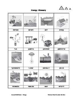 Energy (Simplified) and in Pictures for Special Ed., and ESL Students