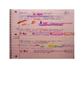 Energy of Light Notes - Old School modified Cornell, AVID layered