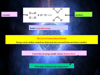 Energy, pH and Chemical Reactions