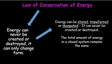 Energy stores and transfers  + Free Famous Scientists & literacy in Science