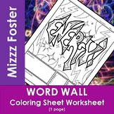 Energy Word Wall Coloring Sheet