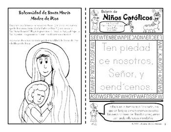 Enero 2017 Catholic Kids Bulletin: In Spanish!