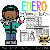 Enero Kinder (January print and go activities in Spanish)