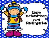 Enero: Matematicas para Kindergarten