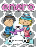 Enero {Math and Literacy Print and Go Centers in Spanish}