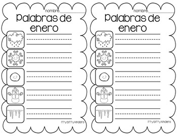 January Vocabulary Words in SPANISH - Enero