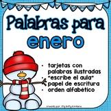 January Vocabulary Words in SPANISH - Enero