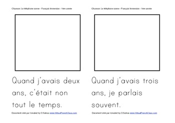 Livret: Enfin, Je vais a l'ecole (Chanson) FRENCH BACK TO SCHOOL (Lecture)