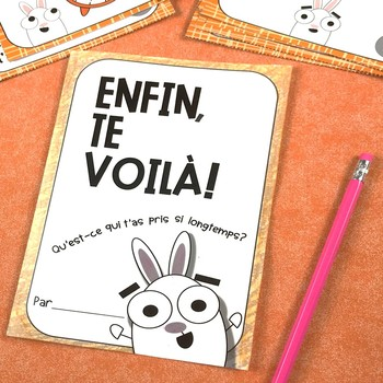 Enfin, Te Voilà! (You're Finally Here!) FRENCH First Day of School Activities
