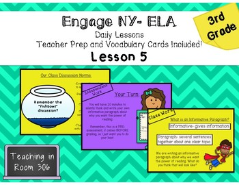 Engage ELA, Grade 3, Module 1, Unit 1, Lesson 5