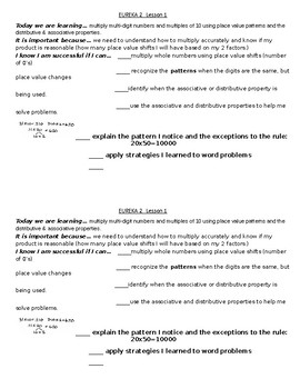 Engage Grade 5 Success Criteria Module 2 Lesson 1