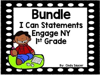 Engage NY, 1st Grade, I Can Statements Bundle