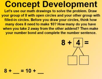 Engage NY 1st Grade Math Module 2 Lesson 8 SmartBoard