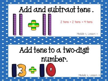 Engage NY, 1st Grade Math, Module 4, I Can Statements and Much More