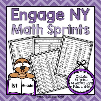 Engage NY 1st Grade Math Sprints **GROWING BUNDLE**