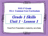 1st Grade NYS Common Core ELA Unit 1 Lesson 1