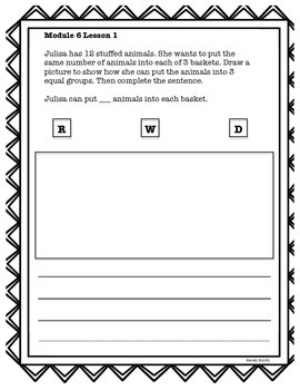 Engage NY 2nd Grade Application Problems Module 6
