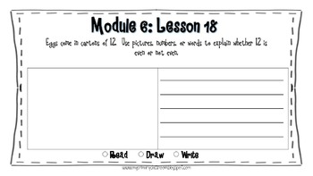 Engage NY 2nd Grade Application Problems, Module 6
