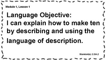 Engage NY 2nd Grade, Module 1 Content & Language Objectives, Essential Questions