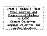 Engage NY 2nd Grade, Module 3 Content & Language Objectives, Essential Questions