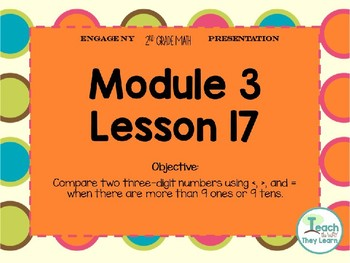 Engage NY (Eureka Math) Presentation 2nd Grade Module 3 Lesson 17