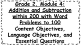 Engage NY 2nd Grade, Module 4 Content & Language Objectives, Essential Questions