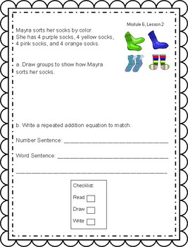 Engage NY, 2nd Grade, Module 6: Tiered Language for ELLs Application Problems