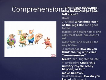 Engage NY Kinder ELA Unit 1 Nursery Rhyme and Fables Lesson 5a This Little Piggy