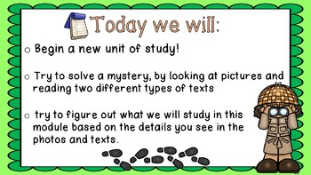 Engage NY 3rd Grade Expeditionary Learning Module 2A:  Unit 1, Lesson1