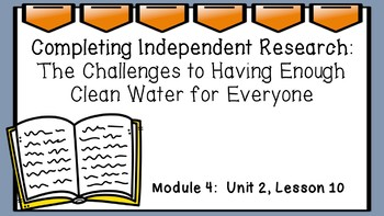 Engage NY 3rd Grade EL Module 4:  Unit 2, Lesson10 PowerPoint