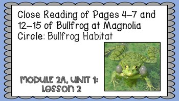 Engage NY 3rd Grade Expeditionary Learning Module 2A: Unit 1, Lesson2