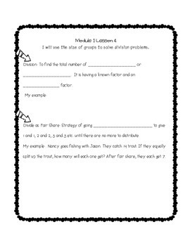 Engage NY 3rd Grade Math Module 1 Notebook: No Prep, Efficient Skill Builder