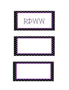 Engage NY 3rd Grade Math Module 1 Vocab list, word cards, and RDWW chart