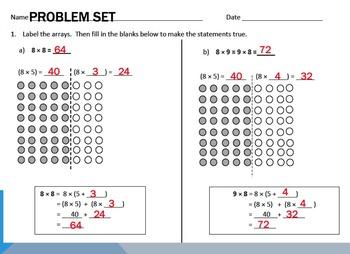Engage NY Eureka 3rd Grade Module 3 Lessons 1-11 3.OA.5 Multiplication & Div