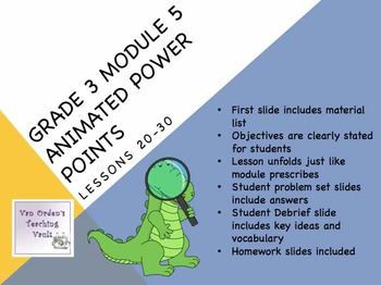 Engage NY Math 3rd Grade Module 5 Topics E & F Lessons 20-30