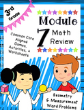 Engage NY 3rd Grade Math Module 7 Review - Geometry & Measurement Word Problems