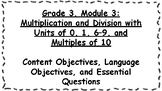 Engage NY 3rd Grade, Module 3 Content & Language Objective